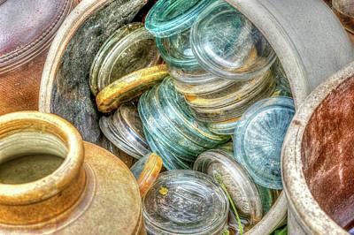 Glass Lids Art Print by Irwin Seidman