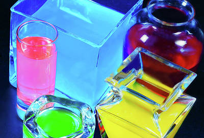 Photograph - Glass Light And Color by Diana Angstadt