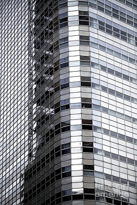 Photograph - Glass Lines In New York City by John Rizzuto