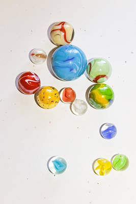 Photograph - Glass Marbles - Vintage Toys by Colleen Kammerer