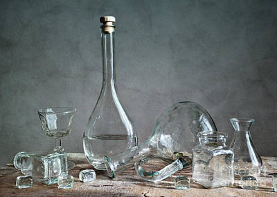 Antique Bottles Photograph - Glass by Nailia Schwarz
