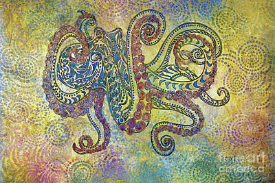 Painting - Glass Octopus by Janet Immordino