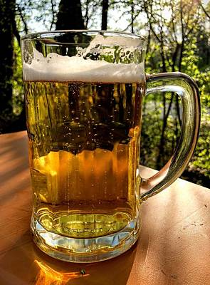 Food And Beverage Photograph - Glass Of Beer by Matthias Hauser