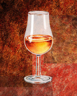 Painting - Glass Of Port by Irina Sztukowski
