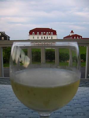 Block Island Photograph - Glass Of Wine by Gerard Yates