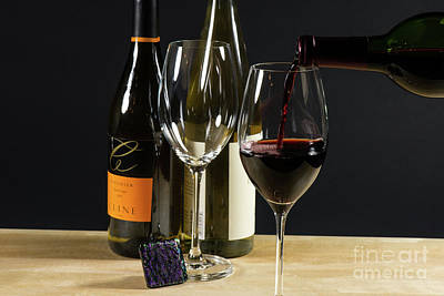 Liquor Photograph - Glass Of Wine by Tod and Cynthia Grubbs