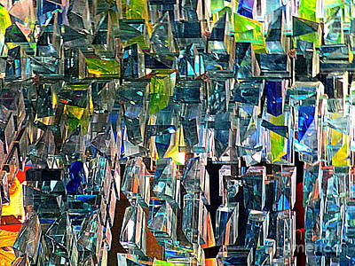 Mosaic Mirrors Photograph - Glass Pattern by Randall Weidner