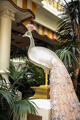 Encore Photograph - Glass Peacock - Encore Hotel - Las Vegas Nevada by Jon Berghoff