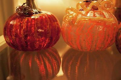 Photograph - Glass Pumpkin by Lora Lee Chapman