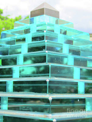 Photograph - Glass Pyramid by Randall Weidner