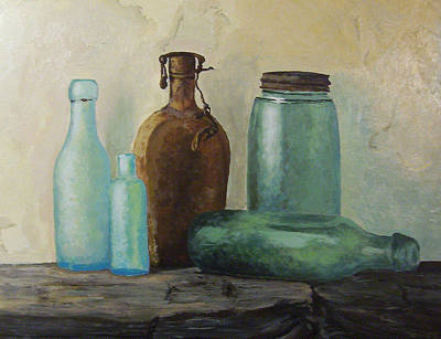 Art Print featuring the painting Glass by Rachel Hames
