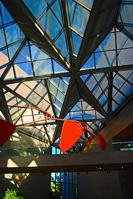 Ceiling Mobile Photograph - Glass Roof, Nga by Bill Jonscher