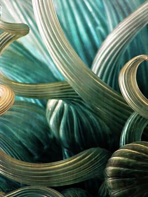 Photograph - Glass Sculpture Abstract 4596 Dp_2 by Steven Ward