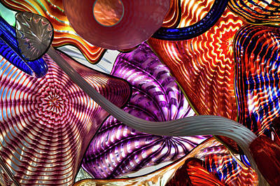 Photograph - Glass Sculptures by David Patterson