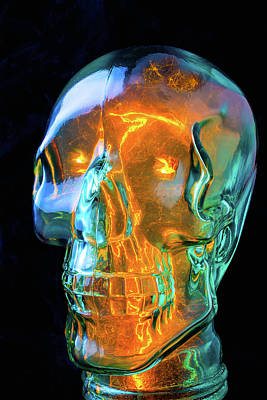 Energize Photograph - Glass Skull by Garry Gay