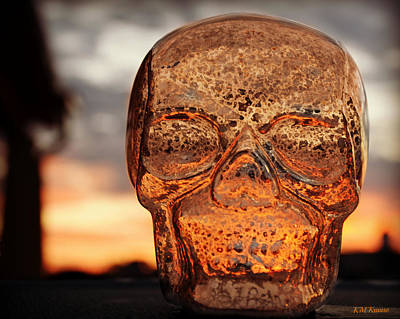 Photograph - Glass Skull Sunrise by Kathy M Krause