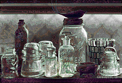 Photograph - glass still life - Glass Ware III by Sharon Hudson