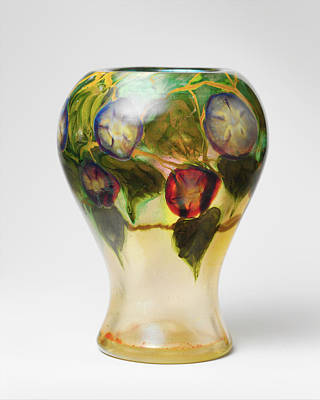 Photograph - Glass Tiffany Vintage Vase by Rospotte Photography