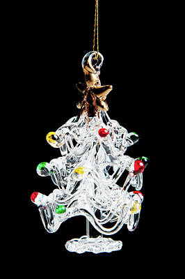 Photograph - Glass Tree Decoration by Helen Northcott