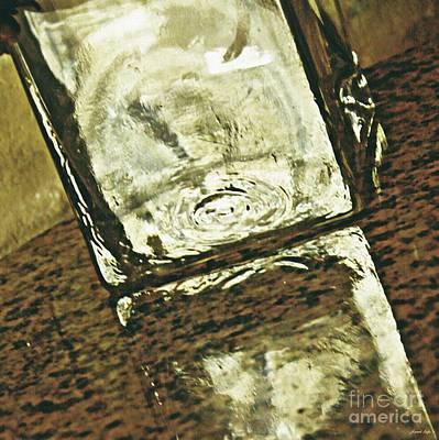 Photograph - Glass Vase On  Polished Stone by Sarah Loft