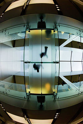 Photograph - Glass Walkway Apple Store Stockton Street San Francisco by David Smith
