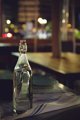 Photograph - Glass Water Bottle by April Reppucci