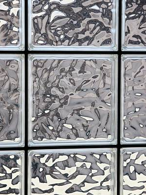 Photograph - Glass Window Tiles by Jeff Gater