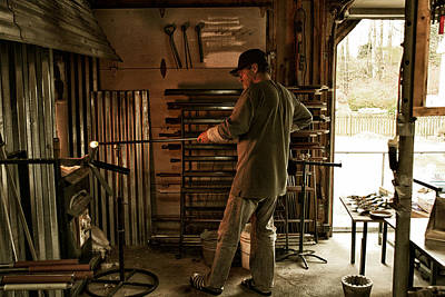 Hand Crafted Photograph - Glassblower Sessions 5 by Nathan Larson