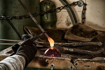 Hand Crafted Photograph - Glassblower Sessions 7 by Nathan Larson