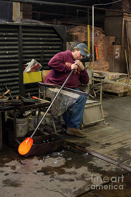 Photograph - Glassblower by Jim West