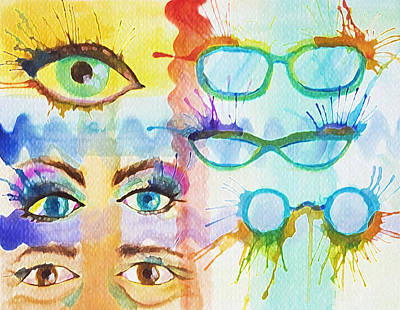 Glasses And Lashes Art Print