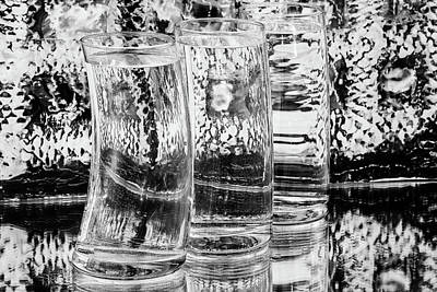 Photograph - Glasses In Black And White by Menachem Ganon