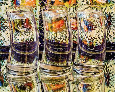 Photograph - Glasses In Orange And Purple by Menachem Ganon