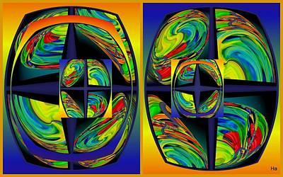 Digital Art - Glasses Of The Artist by Halina Nechyporuk