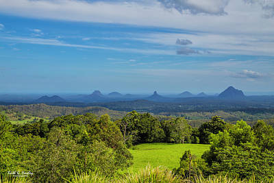 Photograph - Glasshouse Mountains by Keith Hawley