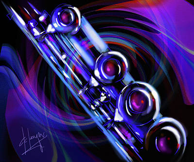 Art Print featuring the painting Glassical Flute by DC Langer