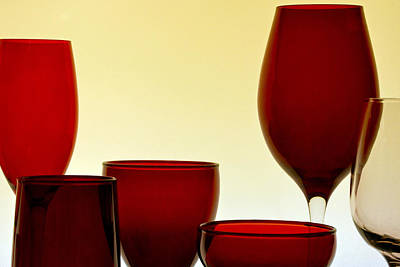 Photograph - Glassware by Bill Owen