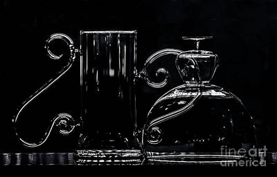 Photograph - Glassware Chiaroscuro by James Aiken