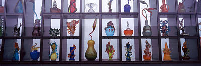 Glassware In A Museum, Museum Of Glass Art Print