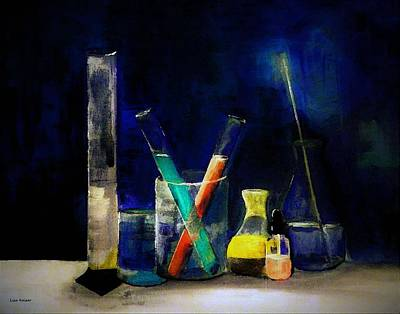 Painting - Glassware Of Science by Lisa Kaiser