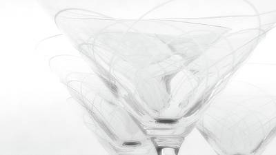Photograph - Martini Glassware1 by Newel Hunter