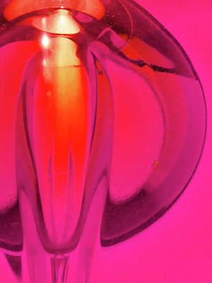 Digital Art - Glassworks Pink by Cecilia Swatton