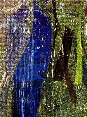Photograph - Glassy Mosaic In Blue by Carolyn Jacob