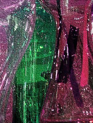 Photograph - Glassy Mosaic In Burgundy by Carolyn Jacob