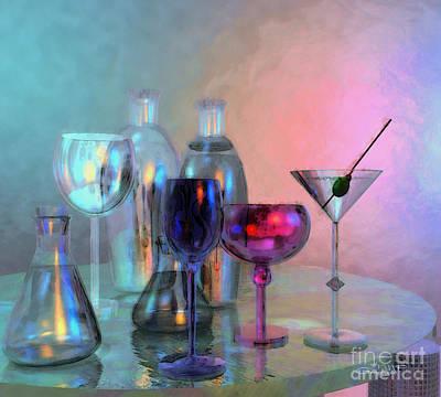 Glassy Still Life Art Print