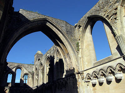 Photograph - Glastonbur Abbey 2 by Kurt Van Wagner