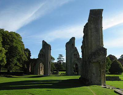 Abbey Photograph - Glastonbury Abbey 3 by Kurt Van Wagner
