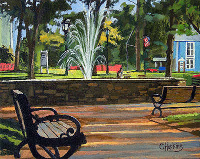 Cider Mill Painting - Center Green Glastonbury Connecticut   by Christine Hopkins
