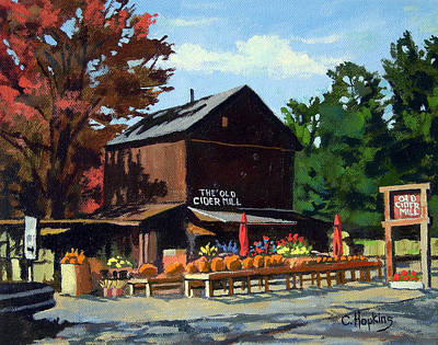 Cider Mill Painting - The Old Cider Mill Glastonbury Connecticut  by Christine Hopkins
