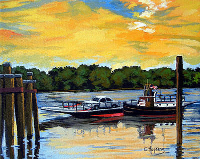 Cider Mill Painting - The Rocky Hill Glastonbury Ferry Glastonbury Connecticut  by Christine Hopkins